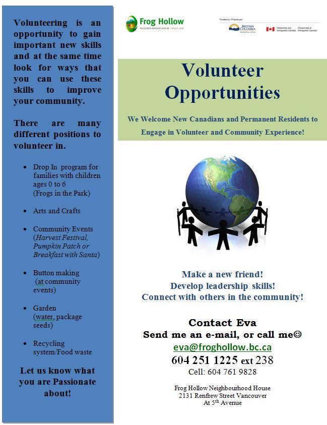 volunteer opportunities near me