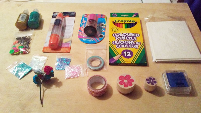 Supplies in a Art-making Kit