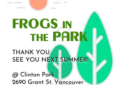 Frogs in the Park 2020