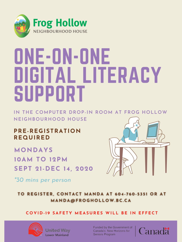 One-on-One Digital Literacy Support @ Computer Drop-in Room
