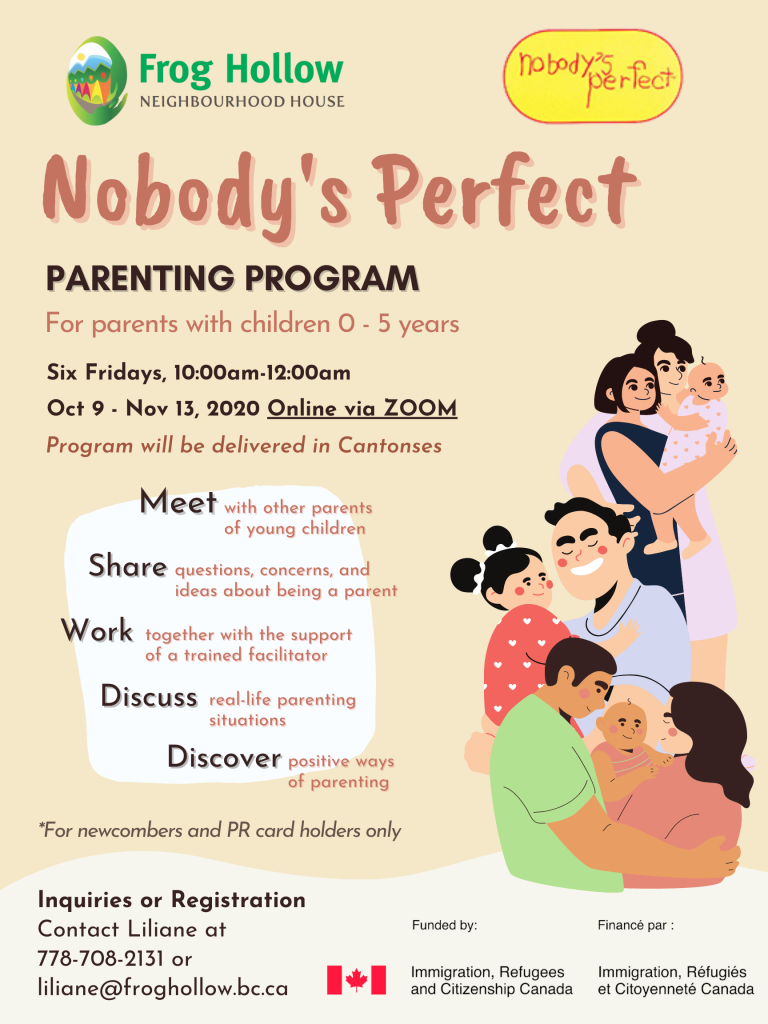 Nobody's Perfect Parenting Program @ ZOOM