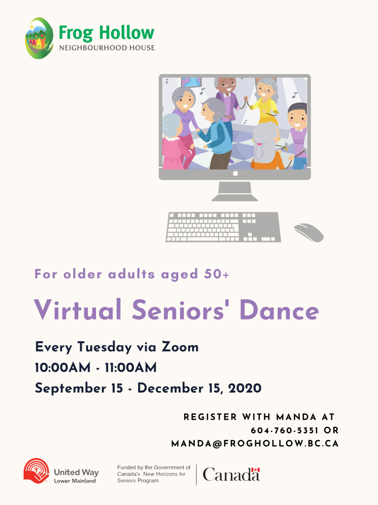 Virtual Seniors' Dance @ Zoom