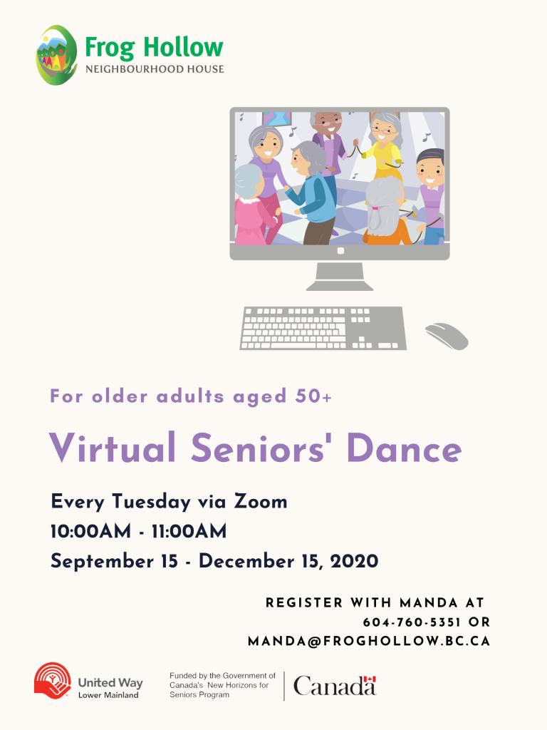 Virtual Seniors' Dance @ Zoom