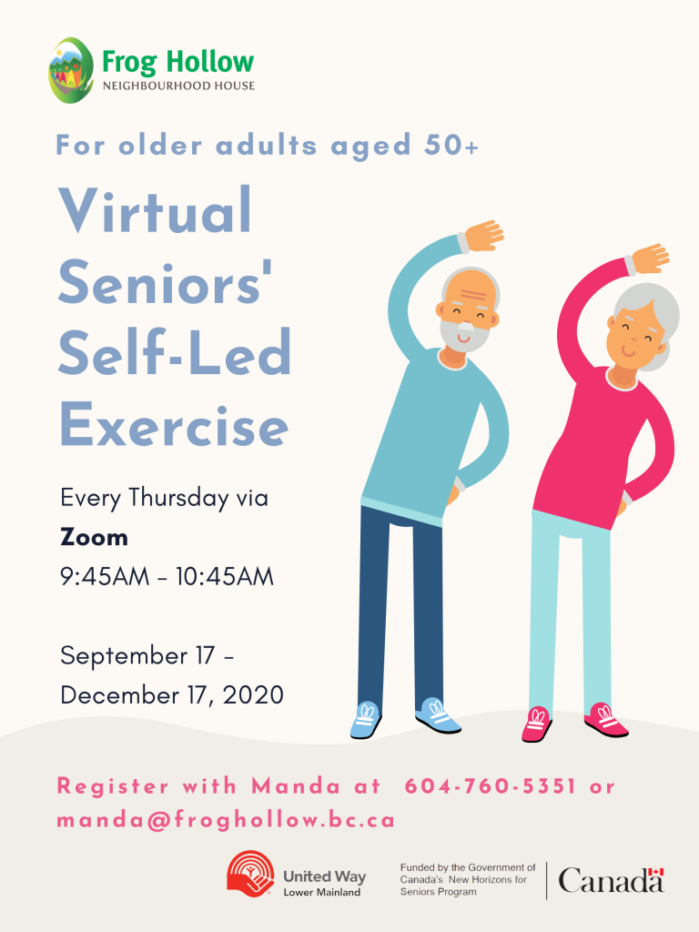 Virtual Seniors' Self-led Exercise @ ZOOM