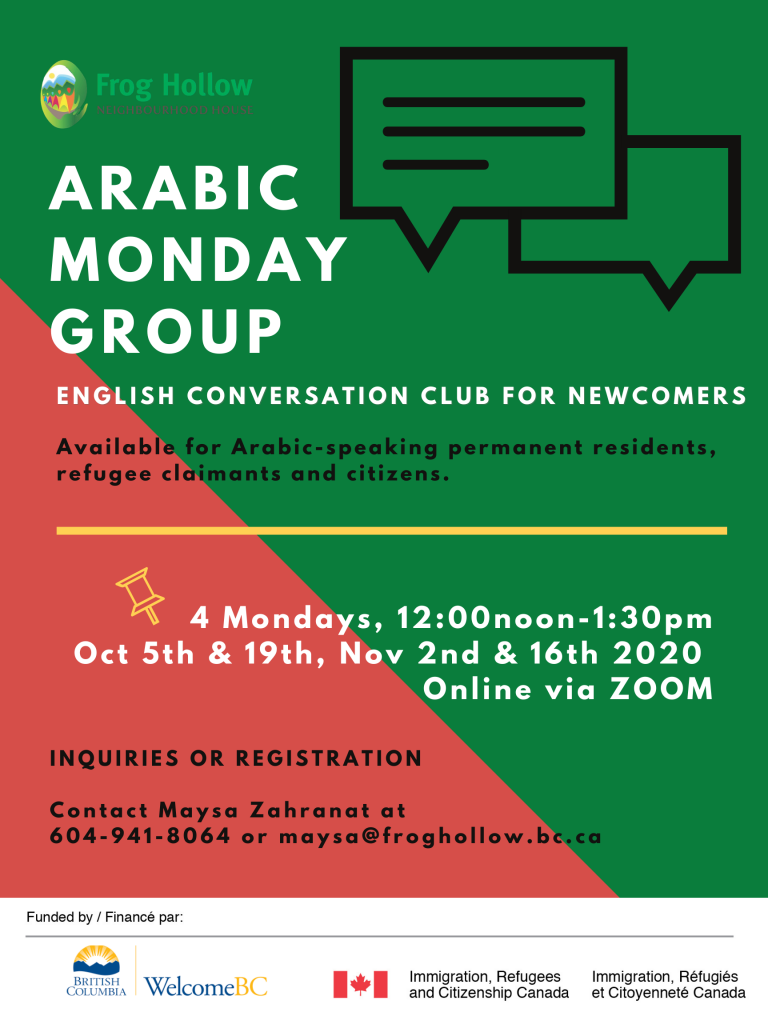 Arabic Monday Group @ Zoom