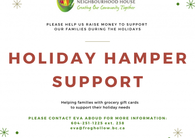2020 Frog Hollow Holiday Hamper Support