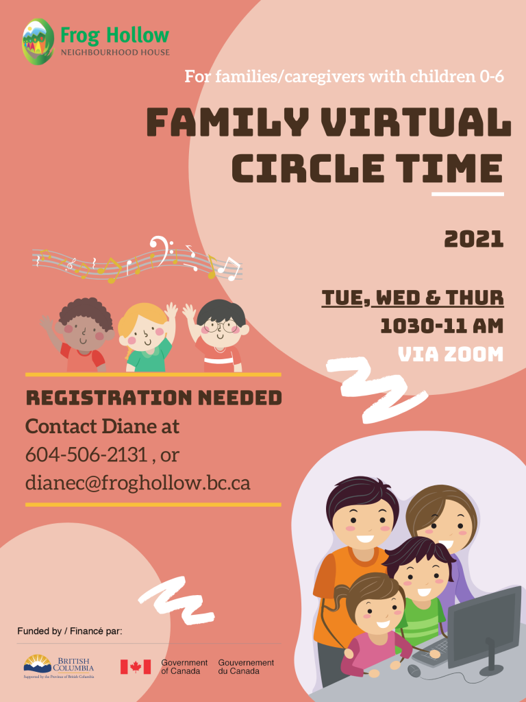 Family Drop-in Program @ Via Zoom only