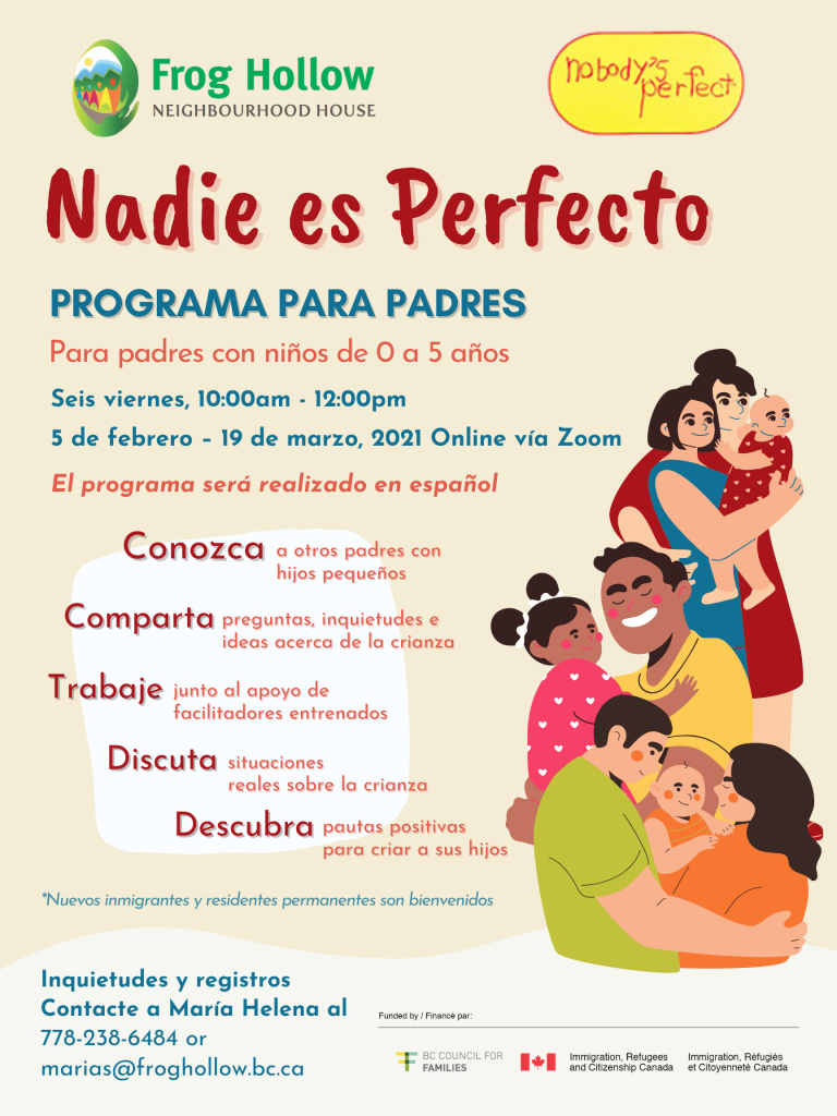 Nobody's Perfect Parenting Program(Spanish) @ Via Zoom only